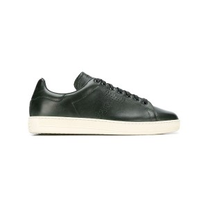 Tom Ford perforated lace-up sneakers - グリーン