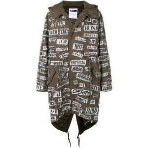 Moschino safety pin hooded parka - グリーン