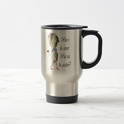 Zazzleワインis the Answer–What Was the Question ??コーヒーマグ 15 oz, Travel/Commuter Mug 021adb7b-3023...