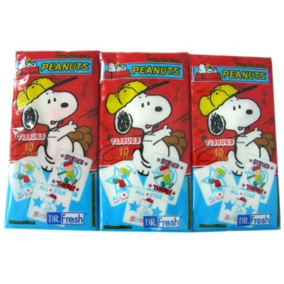 Peanuts Snoopy Tissue Pack (set) by Peanuts