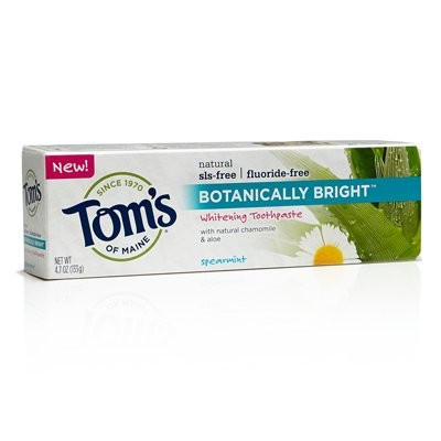 Botanically Bright Whitening Toothpaste Spearmint - 4.7 oz - Case of 6 by Tom's of Maine