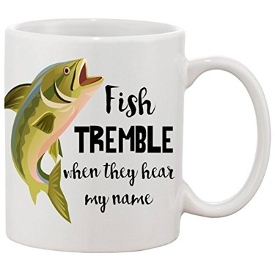 Fish Tremble When They Hear My Name 11オンスコーヒーマグ