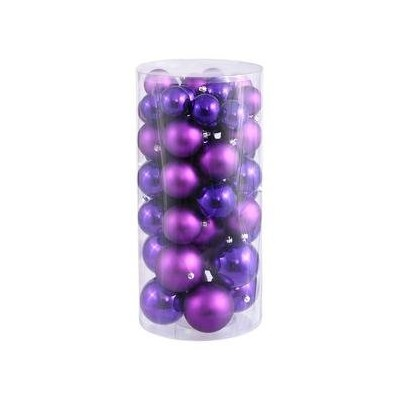 (3.8cm - 5.1cm, Purple) - Vickerman 38cm - 5.1cm Purple Balls Shiny/Matte 50 per Box