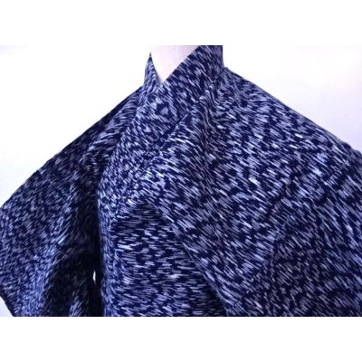 【IDN】 男物浴衣 コーマ地 霞文様 総柄【リサイクル】【中古】【着】