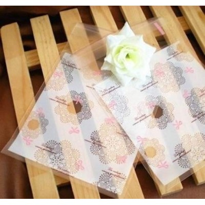 (Snowflake + Bowknot Design) - ONOR-Tech 100 PCS Lovely Cute Bowknot OPP Self Adhesive Cookie...