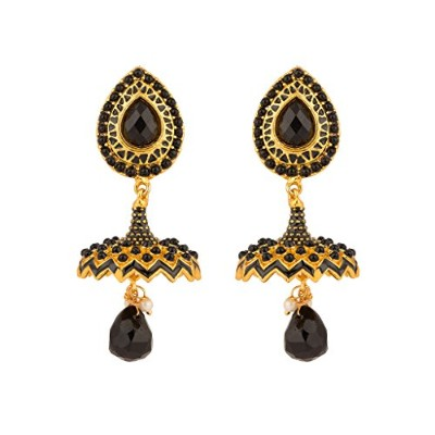 Rajwada Arts Women 's Fancy傘Jhumki Withエナメル