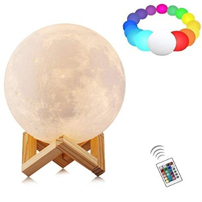 3d印刷MoonランプLED Lunar Night Light for Kids Gifts 7.9 Inch -16 Colour