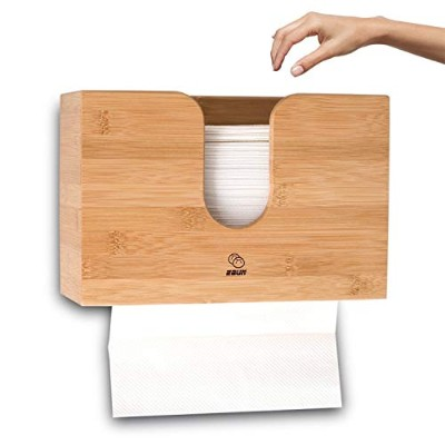 (Large) - Multifold Paper Towel Dispenser - Wall Mount or Counter Top Dispensing - Made of Bamboo