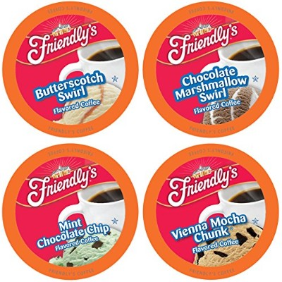 Friendly's Single-Cup Coffee for Keurig K-Cup Brewers Variety Pack, 40 Count by Friendly's