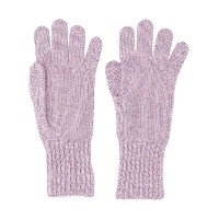 Pringle Of Scotland ribbed cuff gloves - ピンク