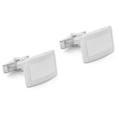 CurvedスターリングシルバーGeometric Cuff Links