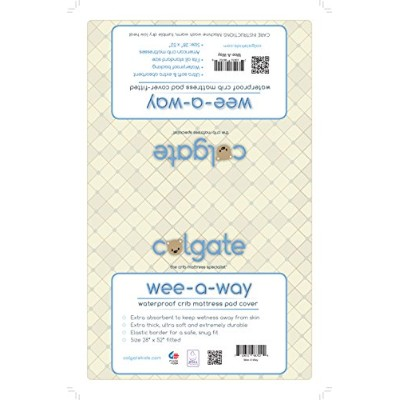 """Colgate wee-a-wayベビーベッドマットレスパッドカバー