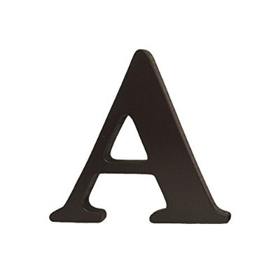 Dark Brown Hanging Nursery Letter A by Little Haven
