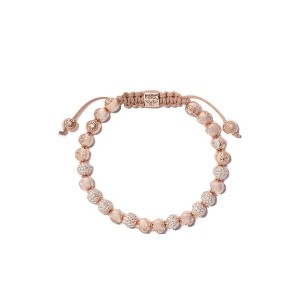 Shamballa Jewels 18kt rose & diamond Non-Braided beaded bracelet -