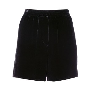 Vera Wang velvet high-waisted shorts - ブラック