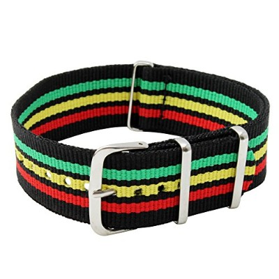 22mmナイロンstrap-jamaica Colors with 2バネ棒