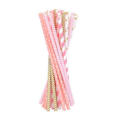 100 – 20 cm色付きペーパーストロー、装飾Straw for Party Celebration 20cm C0S0AA7ND7