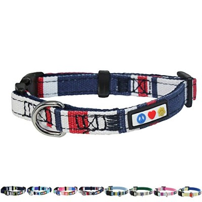Pawtitas Extra Small Dog Collar Red White and Blue by PAWTITAS