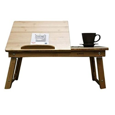 SOFSYS Bamboo Exsle Table S Tea Table Bed Tray Side Table Laptop Stand [海外直送品]