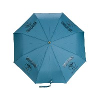 Moschino logo printed umbrella - ブルー