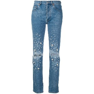 Forte Dei Marmi Couture embellished straight-leg jeans - ブルー