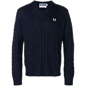 Fred Perry embroidered logo jumper - ブルー