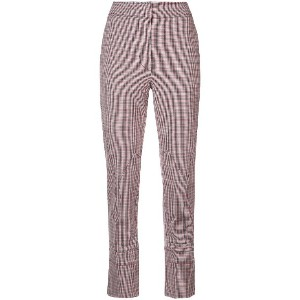 Cédric Charlier plaid chino trousers - レッド