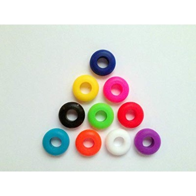 10 Silicone Multi Grommets 5/16 Colored Grommet BPA Free For Fermentation or Straw Lids by Iowa...