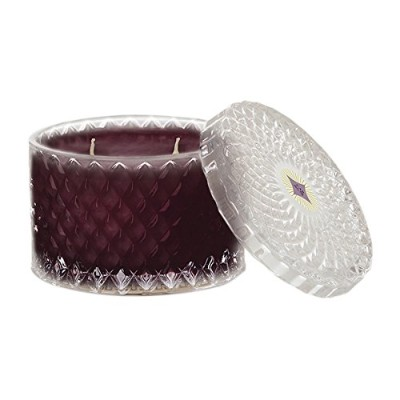 Scentations CabernetダブルWick Candle、ガラスJar with Lid、手Poured大豆ブレンド、10オンス