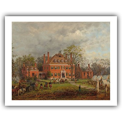 """Edward Lamson Henry : """" The Old Westoverハウス」( 1869)–Giclee Fineアートプリント 16"""" x 20"""" (Image: 14"""" x..."""