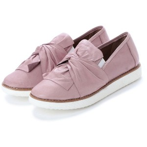 【SALE 50%OFF】ブエノ BUENO 【INTER-CHAUSSURES】ソフトインソールギャザーリボンシューズ (ピンク) レディース