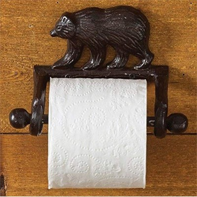 Park Designs Cast Bear Toilet Tissue Holder