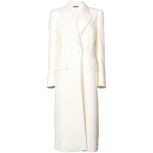 Tom Ford double-breasted long coat - ホワイト