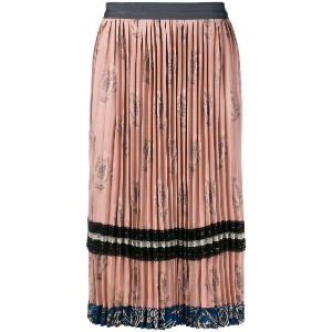Coach pleated midi skirt - ピンク