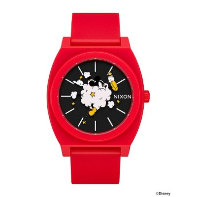 """NIXON × MICKEY MOUSE / """"Dust Up"""" THE TIME TELLER P 3針ウォッチ BEAMS ビームス ニクソン オリジナルBOX入り ギフト アニバーサリー 記念..."""