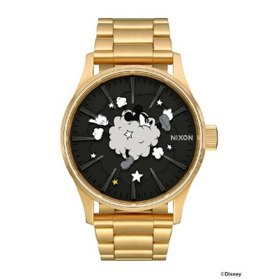 """NIXON × MICKEY MOUSE / """"Dust Up"""" THE SENTRY SS 3針ウォッチ BEAMS ビームス ニクソン オリジナルBOX入り ギフト アニバーサリー 記念..."""