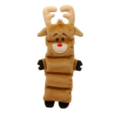 Outward Hound Kyjen 2788 Invincibles Reindeer 5-Squeak Christmas Toy Dog Toy, Brown by Kyjen