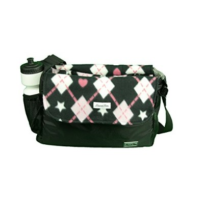 "Louie De Coton Small Dog Carrier with Removableフリースブランケット/ライナーby Made in USA 14""x9.5""x4"" ブラック"