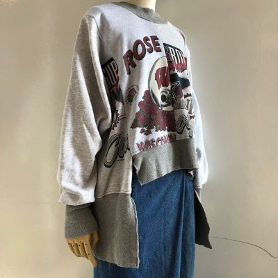 【2018AW】77circa 77サーカ circa make different length wide sweat top
