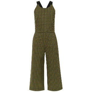 Andrea Marques printed cropped jumpsuit - グリーン
