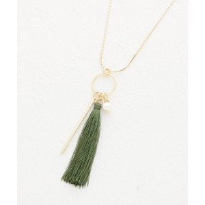 【grove(グローブ)】 タッセル&バーネックレス OUTLET > アクセサリー > ネックレス カーキ