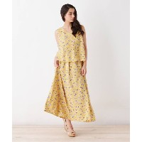 【grove(グローブ)】 花柄ドッキングワンピース OUTLET > ワンピース > その他 イエロー