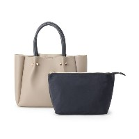 【grove(グローブ)】 ポーチ付きトートバッグ OUTLET > バッグ・財布・小物入れ > トートバッグ グレー