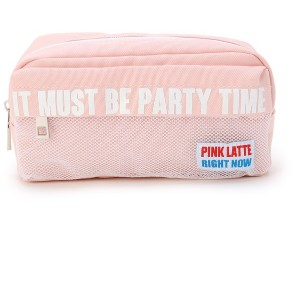 【PINK-latte(ピンク ラテ)】 前ポケメッシュポーチ OUTLET > バッグ・財布・小物入れ > ポーチ ベビーピンク