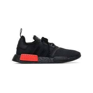 Adidas black and red NMD R1 sneakers - ブラック