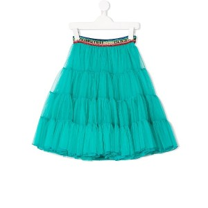 Gucci Kids tiered layered tulle skirt - ブルー