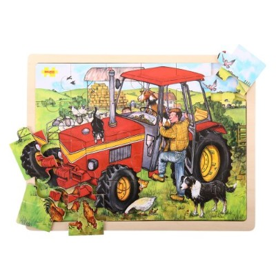 Bigjigs Toys BJ744 Tray Puzzle Tractor by Bigjigs Toys [並行輸入品]