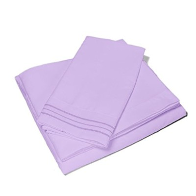 (Full, Violet) - Red Nomad Microfiber Bedding Set (Full, Violet) - Non-Slip Deep Pockets - Cute & Comfortable Bed Sheets & Pillow Cases