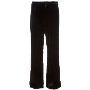 Nicole Miller straight cut velvet trousers - ブラック