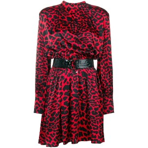 Federica Tosi belted dress - レッド